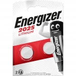 Pile lithium - Energizer CR2025 - 3 Volts - Blister de 2 piles