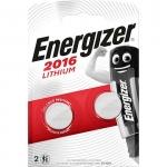Pile lithium - Energizer CR2016 - 3 Volts - Blister de 2 piles
