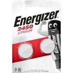 Pile lithium - Energizer CR2450 - 3 Volts - Blister de 2 piles