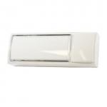 Bouton poussoir - Lumineux + Porte étiquette - Blanc - Urmet 51011