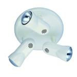 Plafonnier 3 spots blanc culot E27 Manta 63