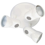 Plafonnier 3 spots blanc culot E27 Manta 80