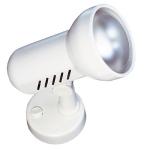 Spot orientable saillie 230V avec inter 100W E27 Aric Remora/01 blanc