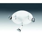 Plafonnier 3 spots blanc culot GU10 IP20 50W Aric Ecco P3