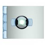 Bticino Sfera New - Façade - Caméra grand angle Noir et Blanc - Allmetal