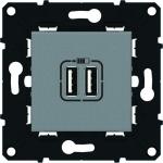 Prise USB double - Chargeur - Arnould Espace Evolution - Magnésium