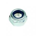 Ecrou de 6 mm - Avec bague nylon - Boite de 50