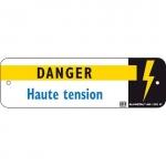 Plaque Alu et métal - HAUTE TENSION - CATU AM-132/2