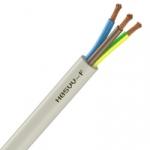 Cable Souple H05VV-F - 3G1 mm² - Blanc - Couronne de 50 mètres