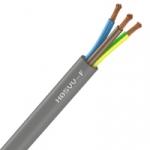 Cable Souple H05VV-F - 3G1.5 mm² - Gris - Couronne de 50 mètres