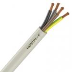 Cable Souple H05VV-F - 4G0.75 mm² - Blanc - Couronne de 50 mètres