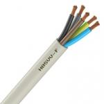 Cable Souple H05VV-F - 5G1 mm² - Blanc - Couronne de 100 mètres