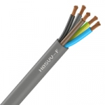 Cable Souple H05VV-F - 5G0.75 mm² - Gris - Couronne de 50 mètres