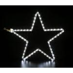 Mini étoile blanche cordon LED 28x28cm Festilight