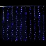 Rideau 200 LEDS bleues animées 10 descentes Festilight