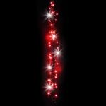 Kit 6 tresses 300 LEDS rouges pétillantes blanches Festilight