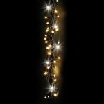 Kit 6 tresses 300 LEDS bl chaud pétillantes blanches Festilight