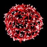 Sphère 3D rouge pétillante 100 LEDS blanches 40 cm Festilight