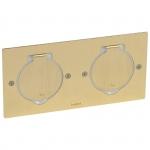 Réceptacle - Pour prise de sol - Carré - Double - Bronze - Legrand 089702