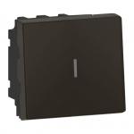 Permutateur - 2 modules - 10A - Noir Mat - Legrand Mosaic 079321L