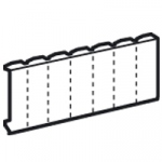 Legrand obturateur 13 modules blanc pour tableau �lectrique