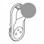 Enjoliveur - Prise de courant 2P+T + USB- Legrand C�liane - Titane