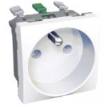 Prise de courant 2P+T - Blanc Polaire - Bornes Auto - Schneider Altira