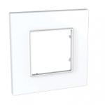 Plaque Schneider Electric Altira Icône - 1 poste - Blanc Polaire