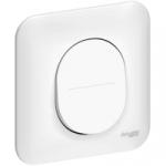 Interrupteur 10 A - Blanc - Fixation par Vis - Schneider Ovalis - Complet