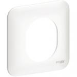 Plaque 1 poste - Blanc - Schneider Electric Ovalis