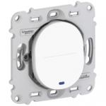 Va et Vient lumineux 10 A - Blanc - Fixation par Vis - Schneider Ovalis