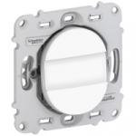 Bouton Poussoir porte étiquette NO 10 A - Blanc - Fixation par Vis - Schneider Ovalis