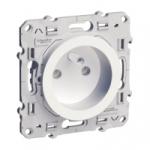 Prise de courant 2P+T - Blanc - Fixation par Vis - Bornes Auto - Schneider Odace