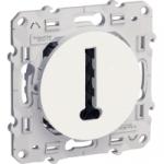 Prise Téléphone en T - Blanc - Fixation par Vis - Schneider Odace