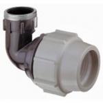 Coude à 90° - Pour tube PE - Dérivation taraudée 3/4 - Diam 25mm - Plasson 71502507