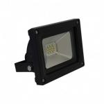 Projecteur extérieur à LED - Vision-EL - 10W - 6000K - Noir - IP65 - Plat