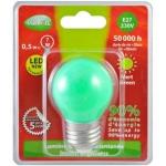 Ampoule à LED Vision-EL E27 Bulb 0.5W Vert 230 Volts