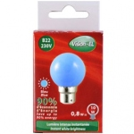 Ampoule à LED B22 0.8W 230 Volts Bleu