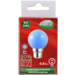 Ampoule à LED B22 0.8W 230 Volts Bleu