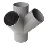 Culotte Double PVC - Mâle / Femelle - 45° - Equerre - Diamètre 100 mm - Nicoll AT14