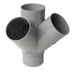 Culotte Double PVC - Mâle / Femelle - 67°30 - Equerre - Diamètre 100 mm - Nicoll AT16