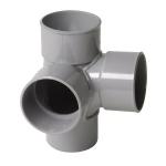 Culotte Double PVC - Mâle / Femelle - 87°30 - Equerre - Diamètre 100 mm - Nicoll AT18