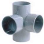 Culotte Double PVC - Femelle / Femelle - 87°30 - Equerre - Diamètre 100 mm - Nicoll AT188