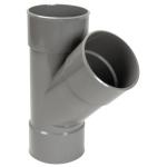 Culotte Simple PVC - Femelle / Femelle - 45° - Diamètre 32 mm - Nicoll BF144 - Gris