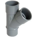 Culotte Simple PVC - Mâle / Femelle - 45° - Diamètre 40 mm - Nicoll BH14