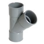 Culotte Simple PVC - Femelle / Femelle - 45° - Diamètre 125 mm - Nicoll BX144