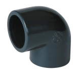 Coude PVC Pression - Femelle / Femelle - 90° - Diamètre 50 mm - Nicoll C50F - Grand rayon