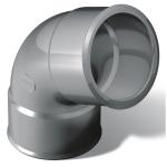 Coude PVC - Femelle / Femelle - 67°30 - Diamètre 50 mm - Nicoll CJ66