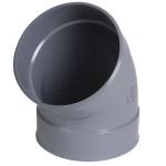 Coude PVC - Femelle / Femelle - 45° - Diamètre 63 mm - Nicoll CL44