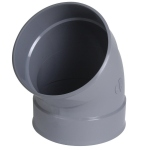 Coude PVC - Femelle / Femelle - 45° - Diamètre 75 mm - Nicoll CP44